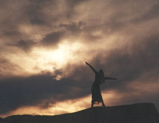 """The Awakening"" performed by Dianne at sunrise on Monadnock in 1999"